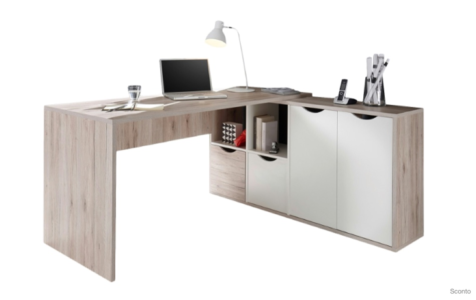 Rohový psací stůl QUADRO 39