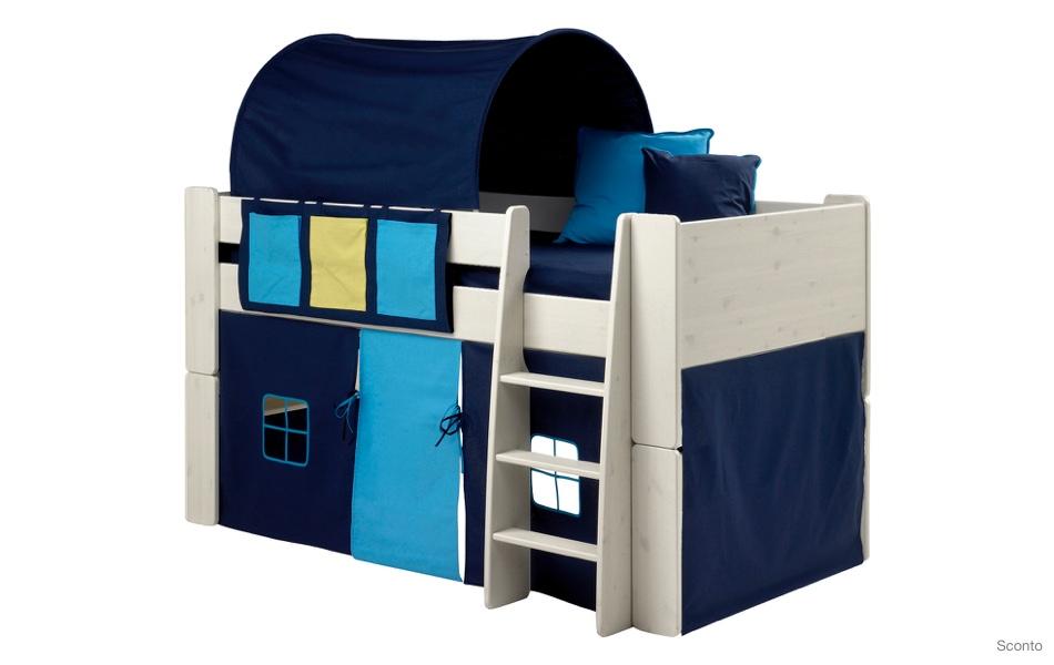 Patrová postel s textilním domečkem