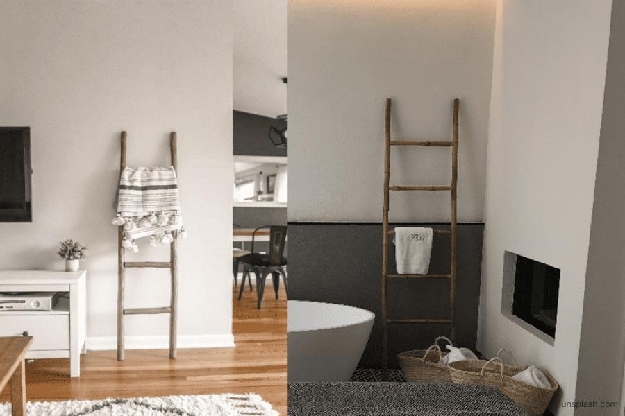 Proměňte starý žebřík v jedinečnou dekoraci