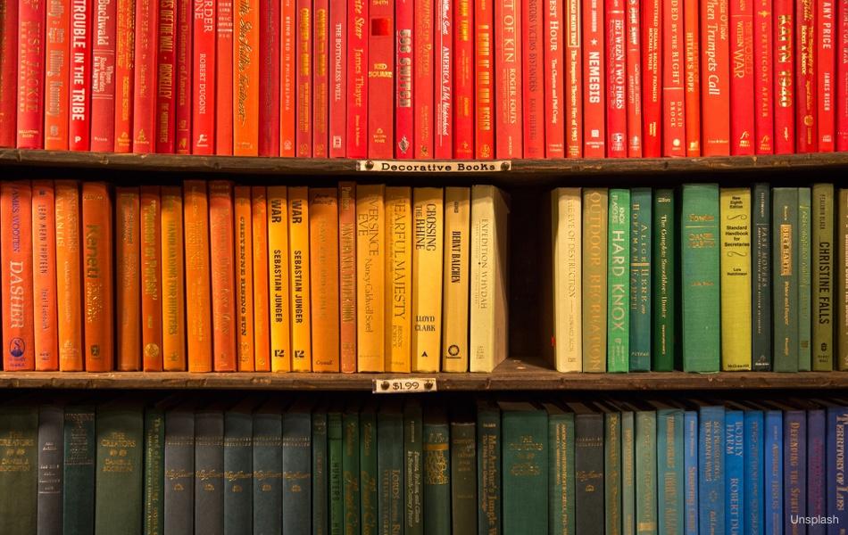 Knihy podle barev