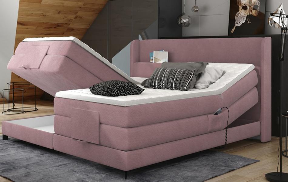 Čalúnená boxspringová posteľ Zumba